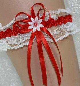 Подвязка на ногу свадебная