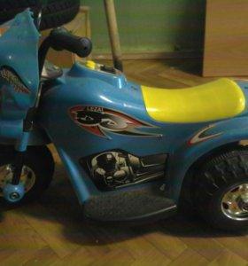 Мотоцикл детский, заряжаемый