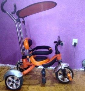 велосипед детский (трехколесный оранжевый)