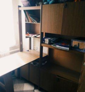 Школьный стол-шкаф