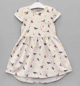 Платье для девочек капучинно Новое
