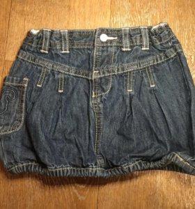 Новая Джинсовая юбка для девочки.