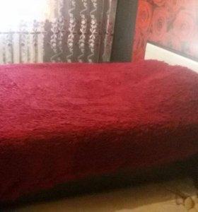 2-х спальн кровать + 2 прикроват тумбочки + матрац