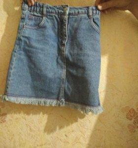 Ждинсовая юбка,не когда не одевали