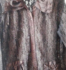 Гипюровая блузка 52-54 р-ра.