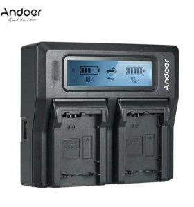 Andoer NP-FW50 npfw50 двухканальный цифровой Батар