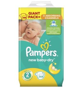 Pampers размер 2 (3-6 кг)