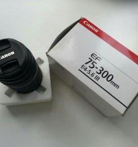 объектив Canon EF 75-300 mm f/4-5,6 lll