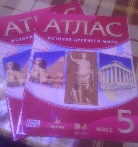 Продам атлас и контурные карты по истории за 5клас