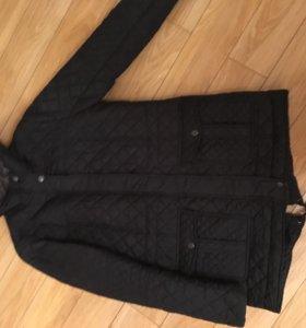 Стеганая темно-синяя курточка 44-46