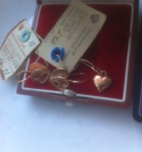 Новые серьги,кулон,кольцо/клейма,пломбы,бирки