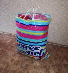 Детские вещи пакетом + ванночка
