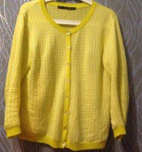 Кофта кардиган Zara жёлтого цвета