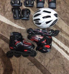 Ролики+сумка+компл. защиты+шлем
