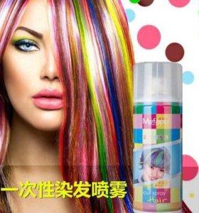 Спрей-краска для волос (белая)