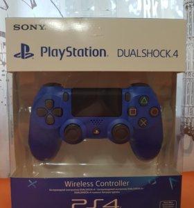 PS4. Джойстик ps4 (новый ) синий. Оригинал