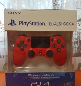 PS4. Джойстик PS4. (новый ) красная лава. Оригинал