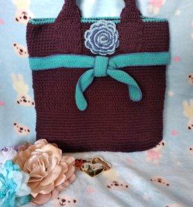 Вязаная сумка, ручная работа+подарок