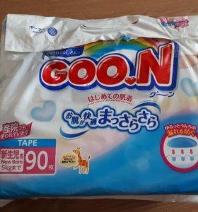 Подгузники goon размер nb до 5 кг