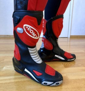 Мотоботы Suomy Racing boot red