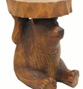 """Табурет """"Медведь"""" h46 d33см"""