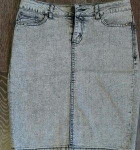 Джинсовая юбка р. 46