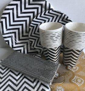 Стильные бумажные посуды для ваших праздников😍