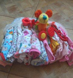 Пакет вещей на девочку р. 62-68