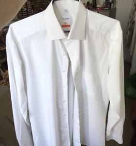 Рубашка белая Olymp мужская (люкс Италия)