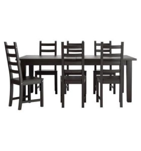Стол и 6 стульев, СТУРНЭС/КАУСТБИ