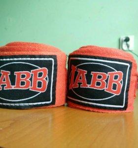 Боксерские перчатки Everlast (10 oz) и бинты Jabb