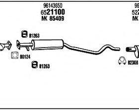 Труба приемная DAEWOO NEXIA 1.5i 08- Евро-3 сталь