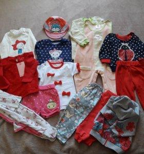 Пакет вещей для девочки 74-80
