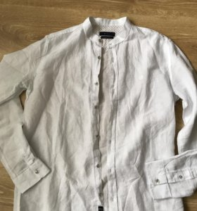 Льняная Новая мужская рубашка