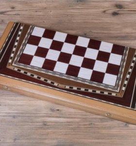 Нарды и шахматы игральные доски ручной работы.