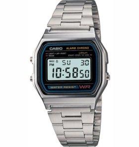 Часы Casio A158WA-1CR Оригинал Спортивные Водоне