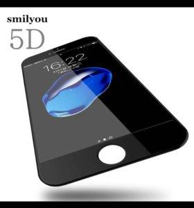 Защитные стекла на iPhone 5D