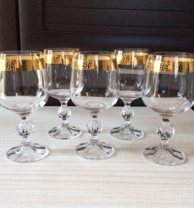 Набор бокалов для вина (Чехия) 5 штук