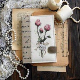 """Блокнот с вышивкой """"Rose lamour"""""""