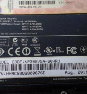 Ноутбук Samsung 300V5AH/Core i7 2670QM 2200 Mhz/15
