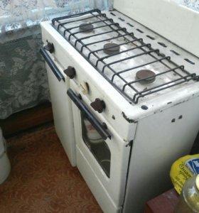 Газовая печка 3 комфорки духовой шкаф