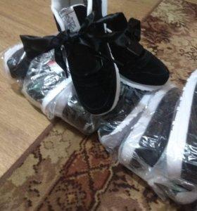 Новые замшевые кросовки