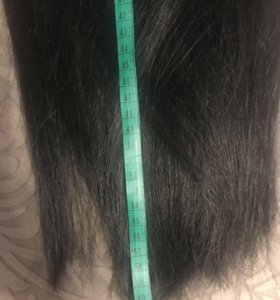 Натуральные волосы на заколках