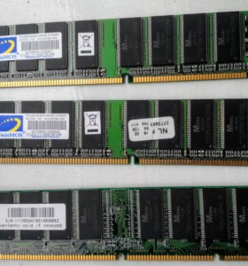 256MB DDR-DIMM PC3200(CL2.5) и PC133 128MB
