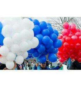 50 шт.Воздушные гелевые шарики с обработкой