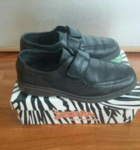 Детские кожаные туфли Зебра 35 размер.