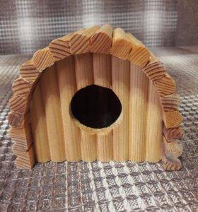 Деревянный домик для грызунов