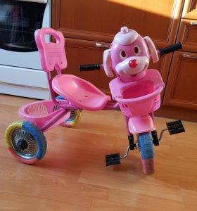 Велосипед детский с мордочкой собачки
