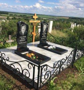 Площадки и благоустройство могил,памятники