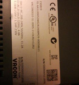 Преобразователи частоты vacon 0010-1L005